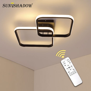 Ceiling Light for Home Modern Led Ceiling Lamp Black&White Indoor Living room Bedroom Dining room Kitchen Corridor Light Lustres black white square round led ceiling lamp living room dining room bedroom hall kitchen decoration modern dimming ceiling lamp
