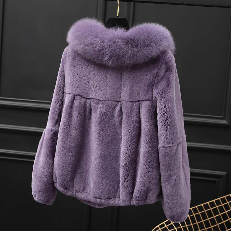 Fur Rabbit Real Coat Female Jacket Winter Jacket Women Natural Fur Jackets For Women Clothes 2020 Chaqueta Mujer MY3849 S