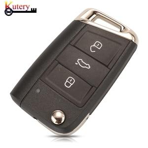 Image 2 - Kutery Originalระยะไกลคีย์สมาร์ทรถสำหรับVW/Volkswagen Golf 7 Passat Variant 3ปุ่มMQB Keyless Go 434MHZ 5G0959752BC