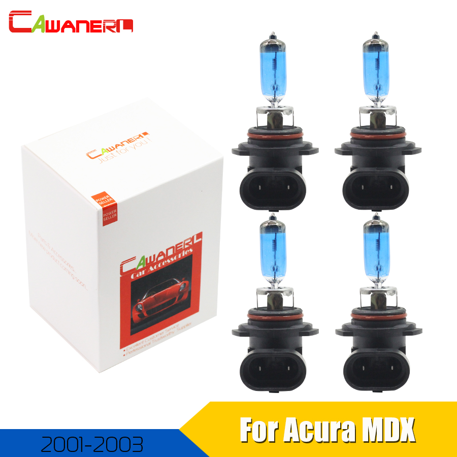 Cawanerl For <font><b>Acura</b></font> <font><b>MDX</b></font> 2001 <font><b>2002</b></font> 2003 100W Halogen Bulb Lamp Warm White 4300K 12V Car Styling Headlight High Low Beam 4 Piece image