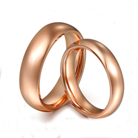 Classic 18K AU750 True Real Solid Gold Rose Glossy Wedding Propose Rings Bands for Women Men Lovers Couple Bride Groom Jewelry