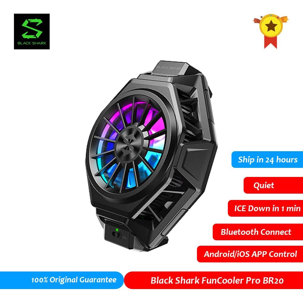 Черная Акула FunCooler 2 Pro BR20 приложение Управление Bluetooth Вентилятор Cooler PUBG Gamer для ROG 5 Black Shark 4 Мобильный телефон Аксессуары