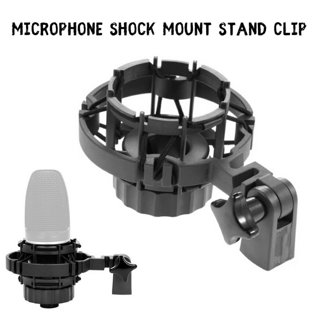 1pc New Microphone Shock Mount Stand Clip Holder For AKG H-85 C3000 C2000 C4000 C414 Microphone Stand Holder Accessories