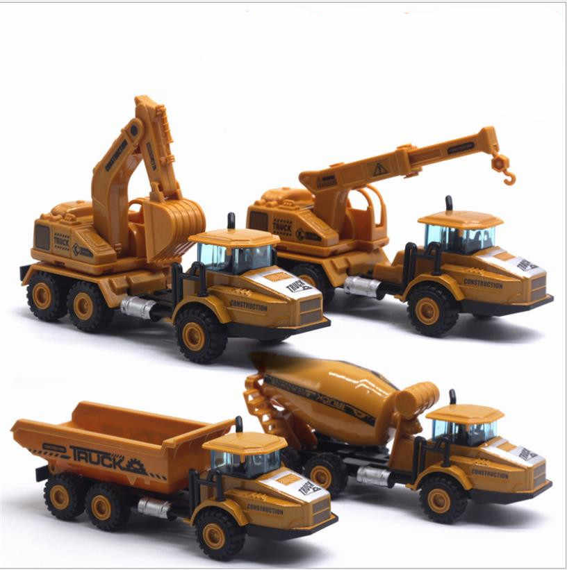 1:43 alloy high simulation engineering vehicle model,pull back excavator,dump truck,mixer truck,crane toy,free shipping