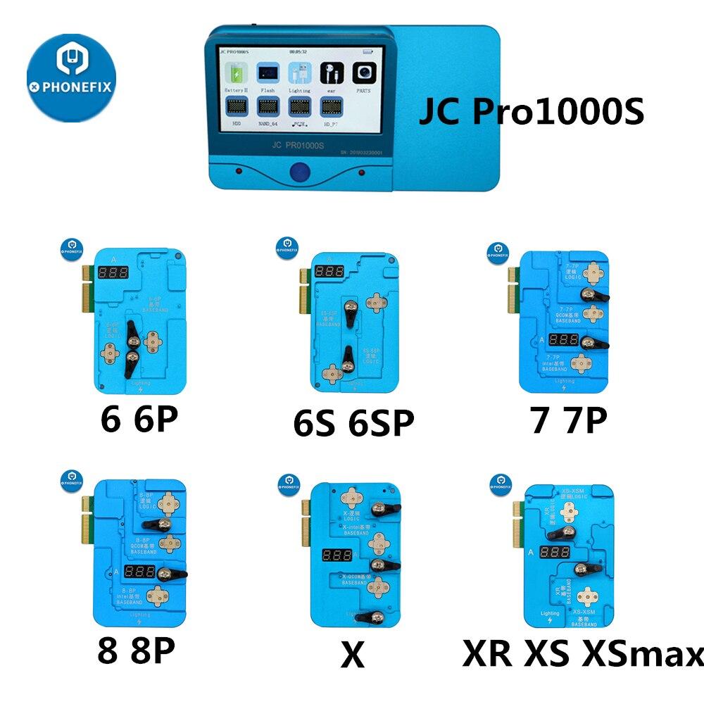 JC Pro1000S EEPROM IC 수리 도구 로직베이스 밴드 EEPROM IC 읽기 쓰기 기계 아이폰 6 6S 7 8 X XR XS 최대 오류 복구 도구