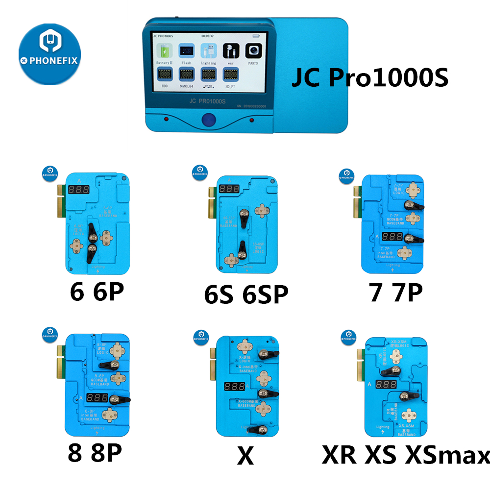 JC Pro1000S EEPROM IC Repair Tool Logic Baseband EEPROM IC Read Write Machine For IPhone 6-X XS Max 11 Pro Max Error Repair Tool