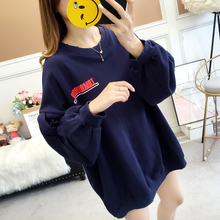 Hoodies Women Autumn Winter New Plus Size Sweatshirts Cartoon print Cute All-match Pullover Womens Loose Warm Long Sleeve