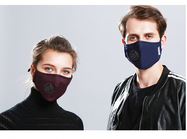 Face Mask Protection Face Mouth Masks PM2.5 Breathable Anti Dust Dustproof Anti-fog Breathing valve Washable 4