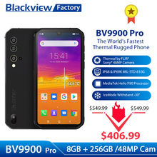 Thermal Camera Blackview BV9900 Pro IP68 Smartphone 5.84 FHD+ Helio P90 Octa Core 8+128GB 48MP Quad Camera Rugged Mobile Phone
