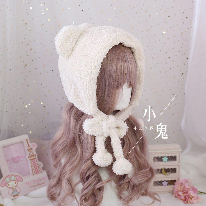 Купить японская пушистая мягкая милая и милая плюшевая шапка для косплея