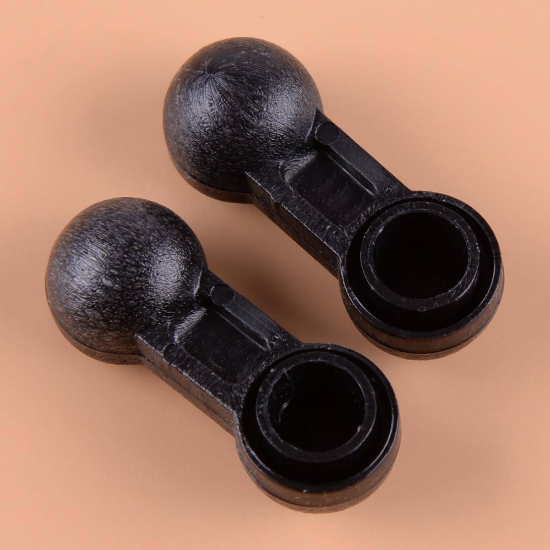 2pcs Black ABS 1