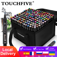 TOUCHFIVE Markers 12 36 48 80 168 Colors Dual Tips Alcohol Graphic Sketching Markers Pen for Bookmark Manga Drawing Art Supplies 1