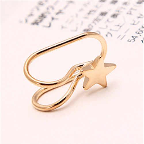 2020 notícias pendientes brincos meninas earing boucle bijoux coração cruz clip orelha brincos de manguito para brincos de casamento feminino jóias