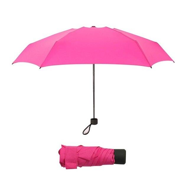 Foldable Umbrella Mini Umbrella Candy Color Traveling Rain Gear Rainy Day Pocket Umbrella Mini Folding Sun Umbrellas Travel Umbr 3