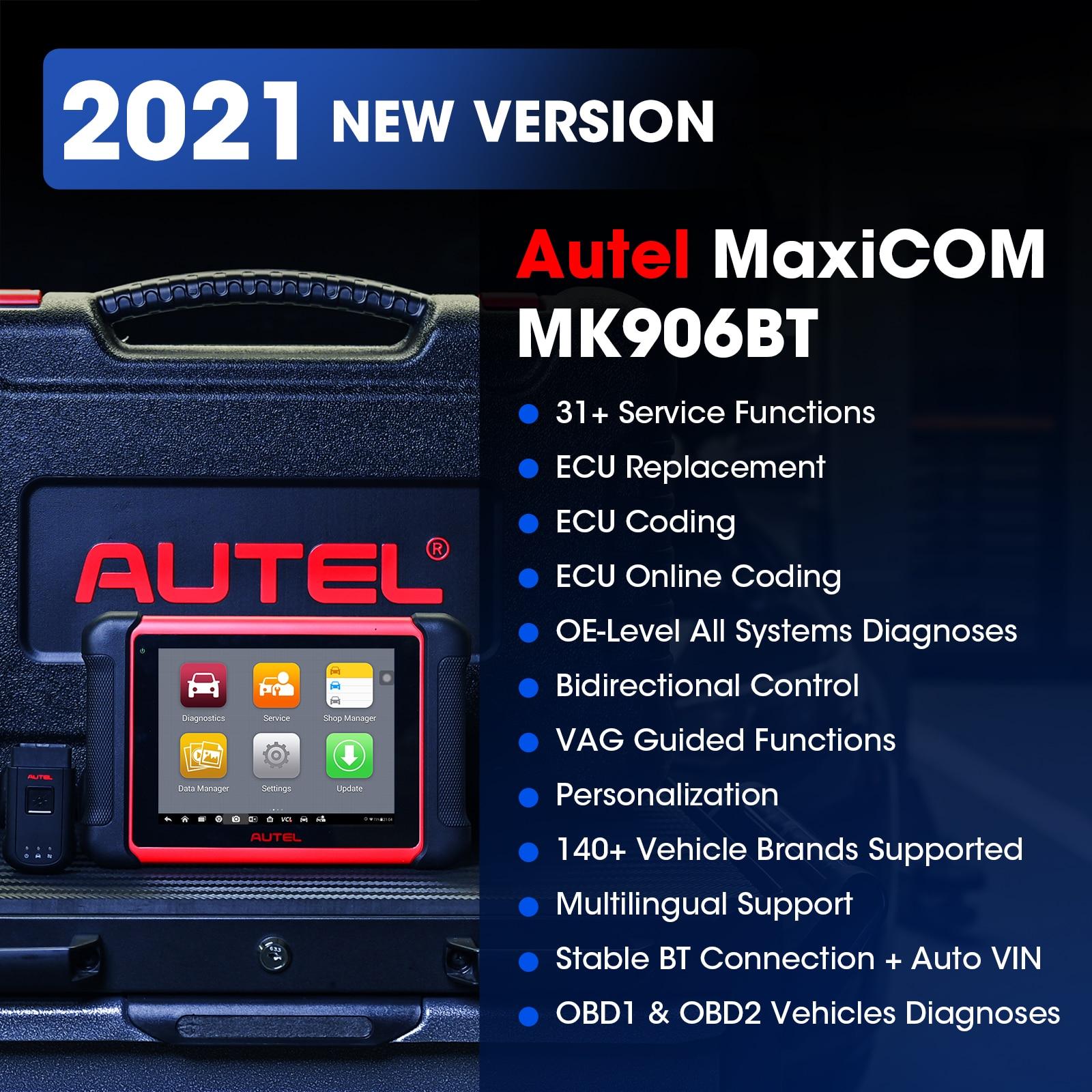 Autel MaxiCOM MK906BT Car Diagnostic Tool Bluetooth Automotivo Scanner ECU  Coding PK MaxiSys MS906BT MS908S MS906|Engine Analyzer| - AliExpress