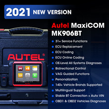Autel MaxiCOM MK906BT OBD2 Scanner Advanced Diagnostic Tool Bluetooth Scanner Automotivo ECU Coding PK MaxiSys MS906BT MS906