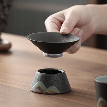Sitko do herbaty filtr do herbaty styl japoński porcelanowy zestaw herbaty filtr do herbaty grupy sitko do herbaty liść herbaty filtr zaparzacze do herbaty Te Infusor tanie i dobre opinie CN (pochodzenie) ceramic