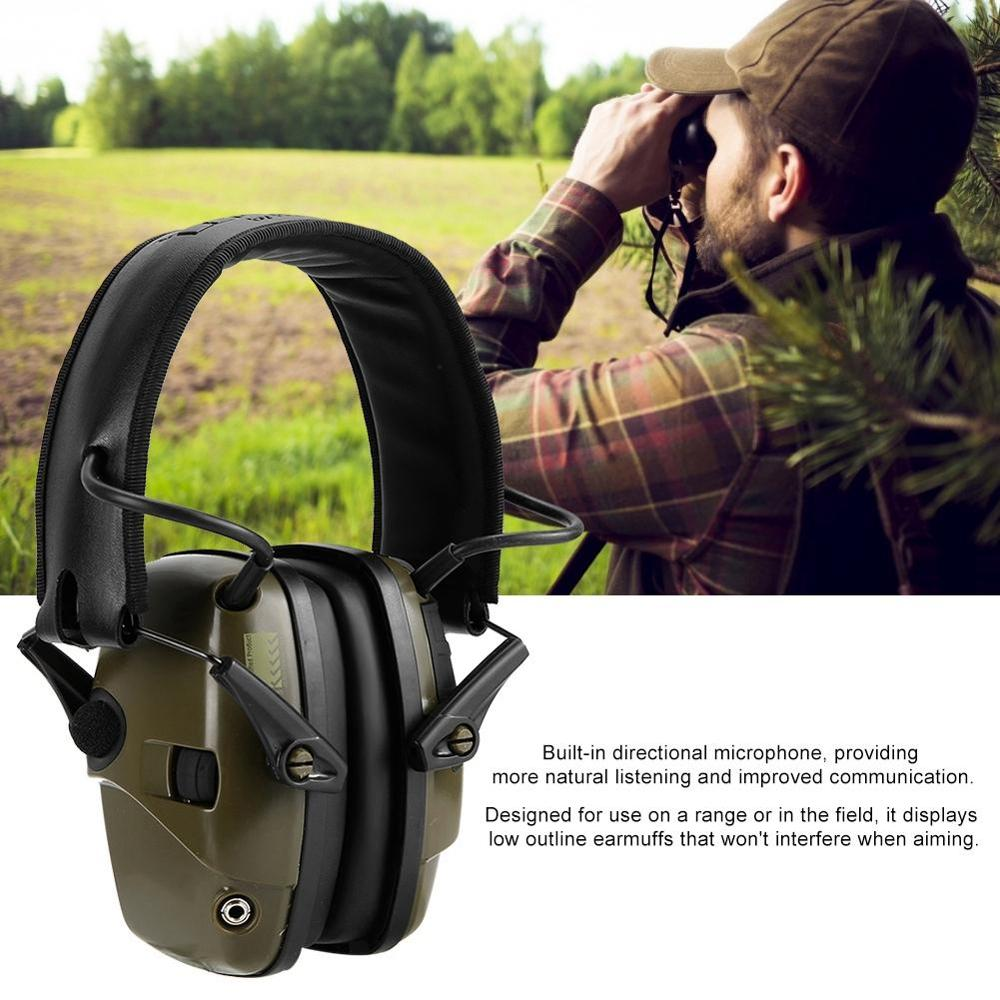 Electronic Shooting Earmuff Anti-noise Impact Ear Protector Outdoor Sport Sound Amplification Headset Foldable Hearing Protector