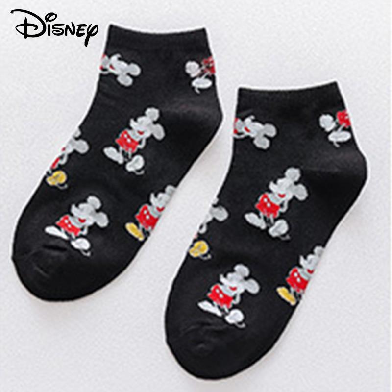 Disney Minnie Mickey Cartoon  Socks Women Cotton Socks Women Pink Cute Cat Ankle Socks Short Socks Casual Gril Socks   EUR 35-42
