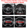 Genuine Leather Car Steering Wheel Cover 15 Inch/38cm for Porsche 718 911 Cayenne Cayman Macan Boxster Taycan Accessories 2