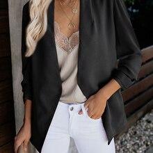 2019 Fashion Women's Blazer Jacket Korea Style Solid Color Slim Suit None Button Retail/Wholesale Drop Shipping