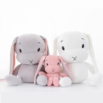 Śliczne pluszowe króliczki-maskotki 50cm i 30 cm zabawki prezenty dla dzieci lalki przytulanki do spania WJ491 tanie i dobre opinie HAIMAITONG CN (pochodzenie) Tv movie postaci 4-6y 7-12y 12 + y rabbit Lalka pluszowa nano Unisex Pp bawełna Other none