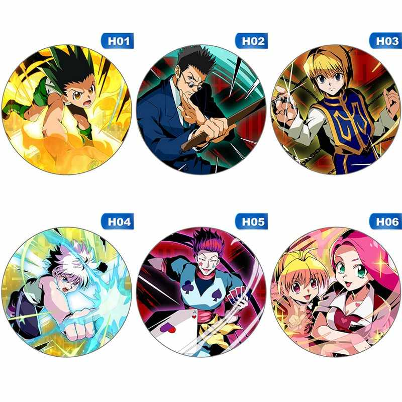 Hunter X Hunter Broche Badge Anime Figuur Killua Kurapika Leorio Ronde Metalen Display Broches Pins Sieraden