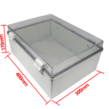 MANHUA Waterproof box 400*300*170mm IP65 ABS Polycarbonate Enclosure Box junction box with a front panel Distribution enclosure цена 2017