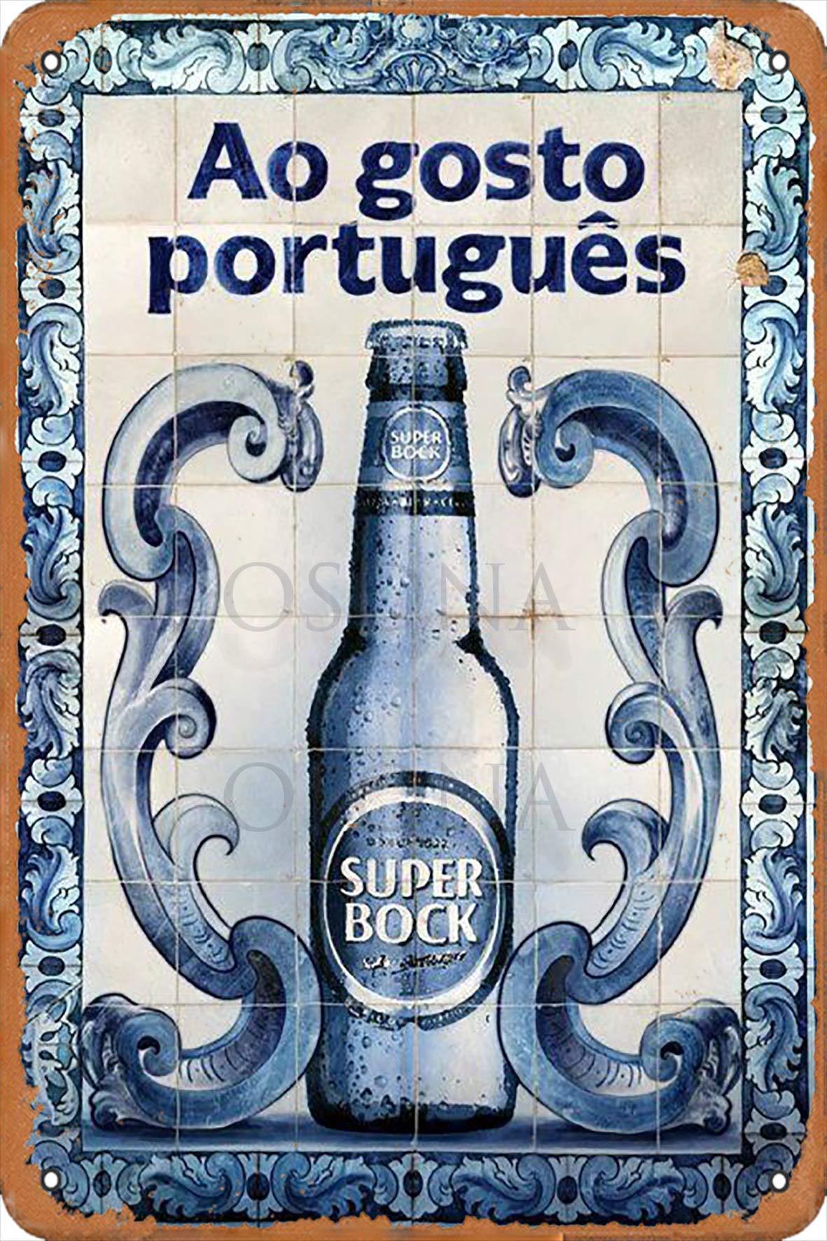 Иллюстрация гоночной серии Super Bock Ao Gosto Portugues, деревенский настенный Декор, металлический жестяной знак, винтажный декор для паба, Забавный
