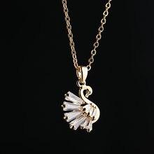Zircon cubique à la mode cygne pendentif collier de haute qualité scintillant cristal Animal collier pour les femmes bijoux de mode 2020