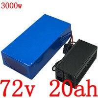 72V 72 72V bateria bicicleta elétrica da bateria 2000 V 3000W scooter elétrico bateria 72V carregador de bateria de lítio com 5A 20AH