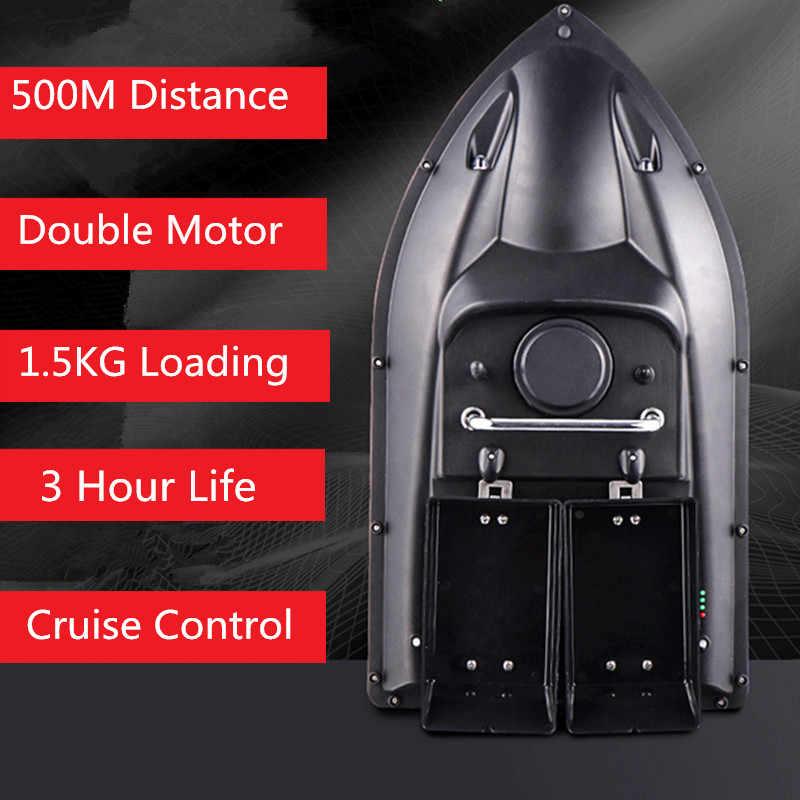 Nowa inteligentna łódź rybacka RC h18 podwójny kosz 500M podwójne światło nocne stała prędkość Cruise automatyczne podawanie zdalnego Contorl przynęta na ryby