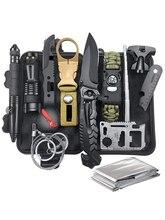 Набор снаряжения для выживания на природе, военные инструменты для кемпинга, аварийный SOS набор первой помощи, тактический нож, приключения,...