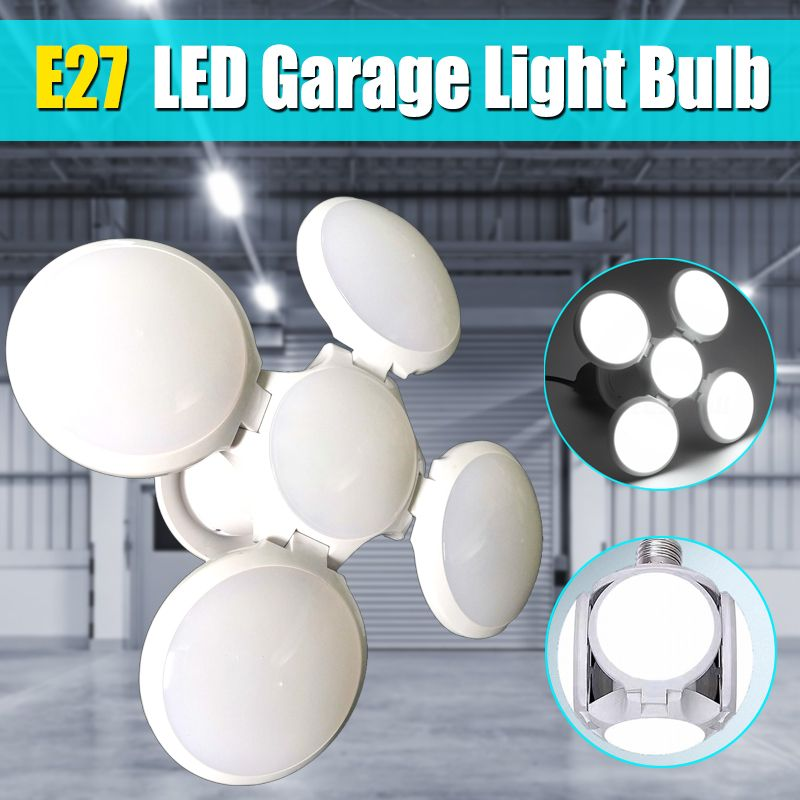 Foldable E27 LED Garage Light Bulb Industrial Lighting Lamp Adjustable Deformable Ceiling Fixture Lights Shop Workshop Lamp