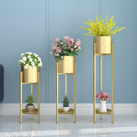 Flower Stand Nordic Iron Gold Luxury Living Room Indoor Potted With Green And Metal Flowers Plant Pot Home Decoration