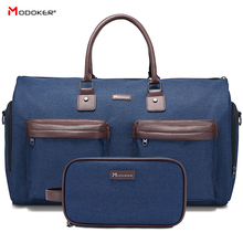 Garment Bag Man Duffel Bag�Extra Large�for Business�Suit Travel Package with Shoe Pocket, SBS Zipper Durable strap Blue