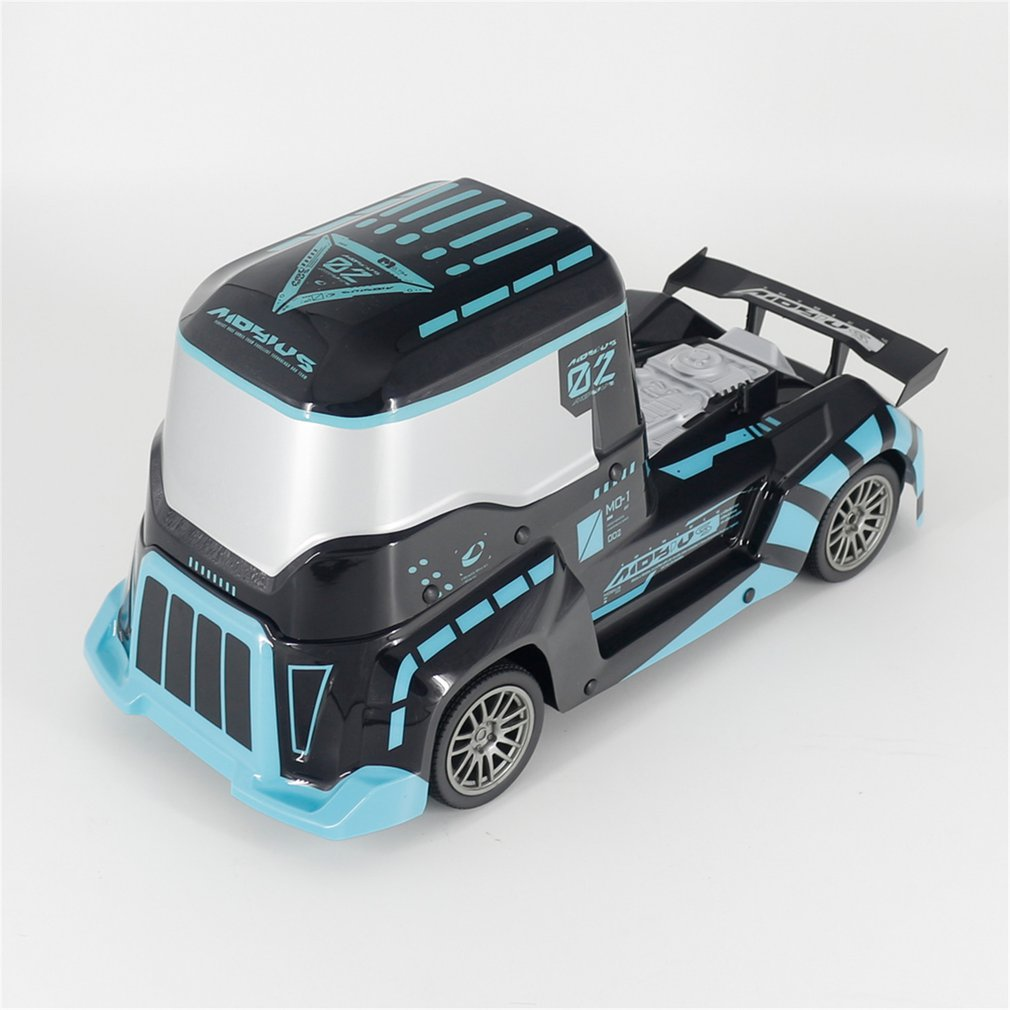 J801 1:10 High Speed RC Car Truck With Lighting 2.4G Remote Control Off-road Crawler Vehicle Model RTR Toy For Kids Gift-Blue