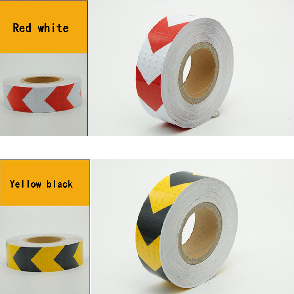 Safety Warning Conspicuity Reflective Roll Tape Marking Film Sticker For Road Construction Caution Sticker