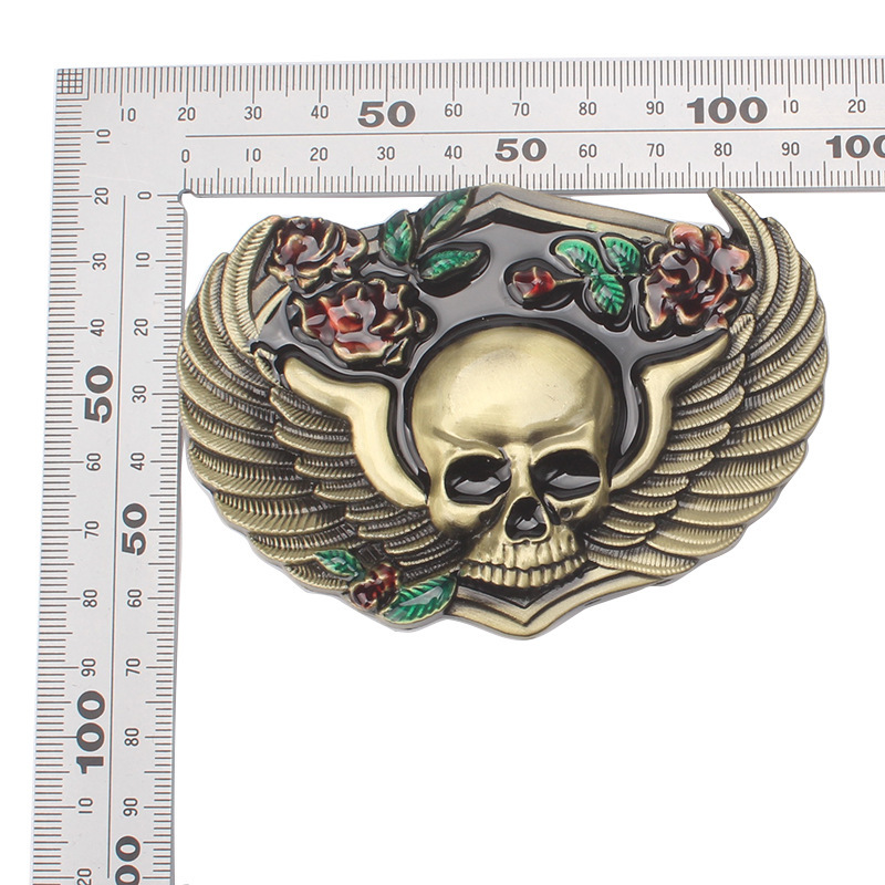 Skull skeleton belt buckle Belt DIY accessories Western cowboy style Smooth belt buckle Punk rock style k20