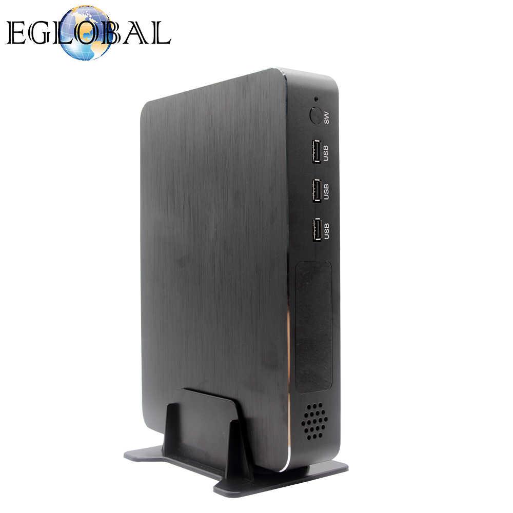 Eglobal Juego Mini PC de escritorio tarjeta dedicada i9-9900 i7-9700F i5-9400F GTX1050TI 4G GPU Win10 Micro computadora NVMe 2 * HDMI2.0