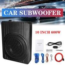 Altavoz de graves para coche universal, amplificador o Subwoofer de audio de 10 pulgadas, delgado de 600W para graves activo para automóvil universal