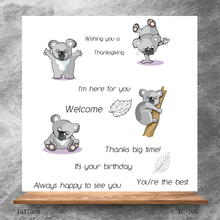 ZhuoAng Lazy koala bear Clear Stamps/Silicone Transparent Seals for DIY scrapbooking photo album Stamps