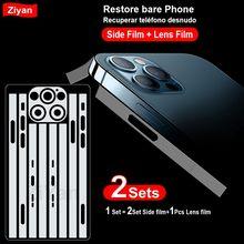 2 conjuntos magro hd claro lado protetor do telefone móvel e filme da câmera para o iphone 12 mini 11 pro xr x xs max 8 tpu hydrogel aro filme