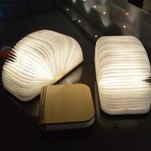 Luzes do livro led portátil usb recarga magnética dobrável de madeira luz da noite lâmpadas mesa leitura criativo novidade presentes decoração casa