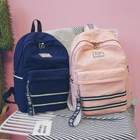 Simple backpack college wind junior high school student bag female high school university campus backpack,School bag, couple bag