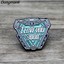 K103 I Love you 3000 Reactor Enamel Pins and Brooches for Men Lapel Pin Backpack Badge Denim Brooch  Collar Jewelry Gifts