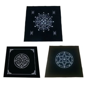 50x50cm Art Tarot Pagan Altar Cloth Flannel Tablecloth Divination Cards Square Tapestry Decor