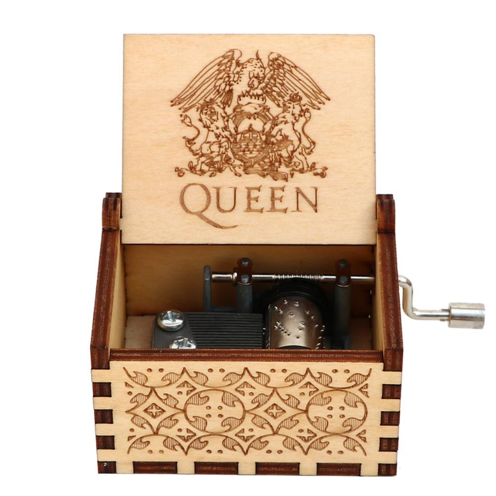 Прямая поставка, черная деревянная музыкальная шкатулка, игра в трон, Caja, музыкальная Zelda, ручная работа, Деревянная Музыкальная Коробка, рождественский подарок - Цвет: Queen 01