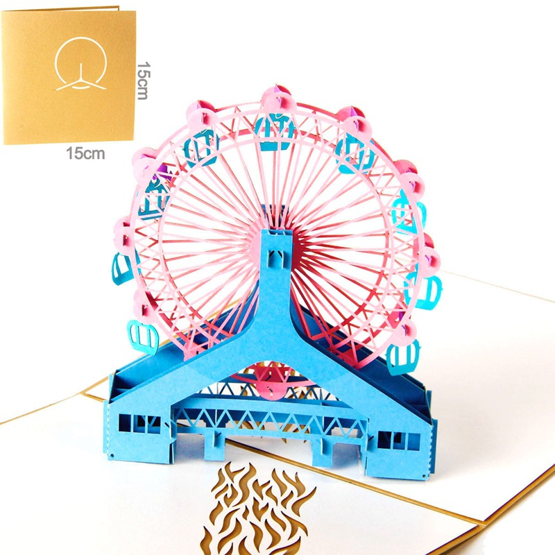 DIY Camera 3D stereo couple Valentine 39 s Day gift birthday party card Children 39 s greeting card carousel wine invitation card 1pcs in Cards amp Invitations from Home amp Garden
