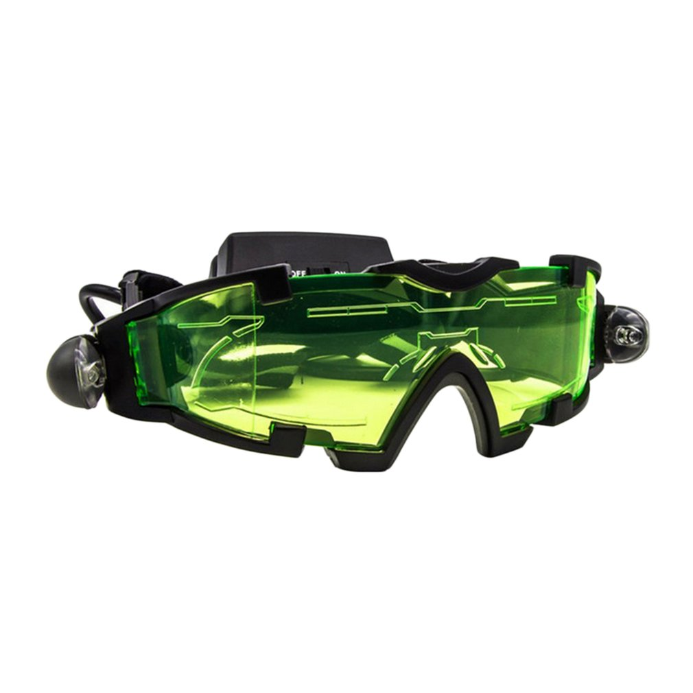 Adjustable LED Night Vision Glass Goggles Motorcycle Motorbike Racing Hunting Glasses Eyewear With Flip-out Light Windproof PC